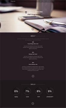 html5响应式设计师个人主页网站CSS单页模板源码下