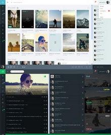 简洁扁平化风格bootstrap响应式社交音乐网站模板