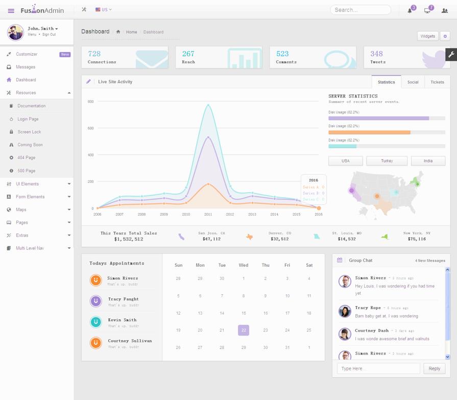 灰白色win8风格的Bootstrap响应式网站后台管理模板