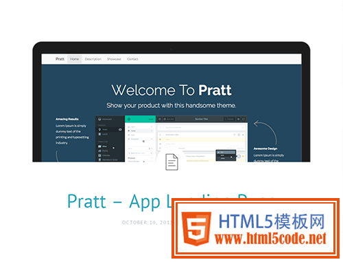 Bootstrap主题 - pratt