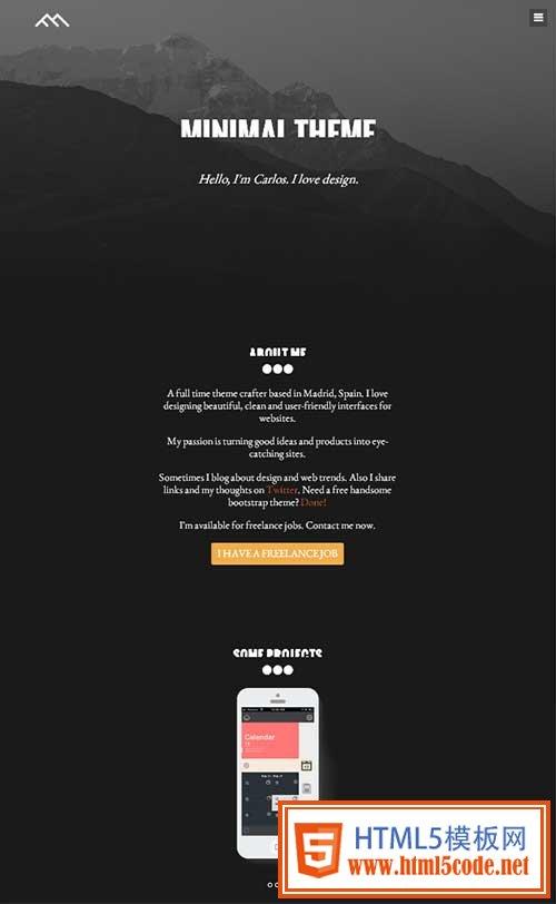 Bootstrap模板 - minimal-demo
