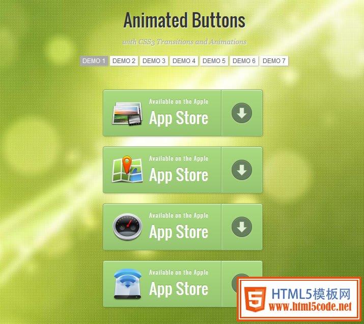 七套CSS3绚丽动画按钮