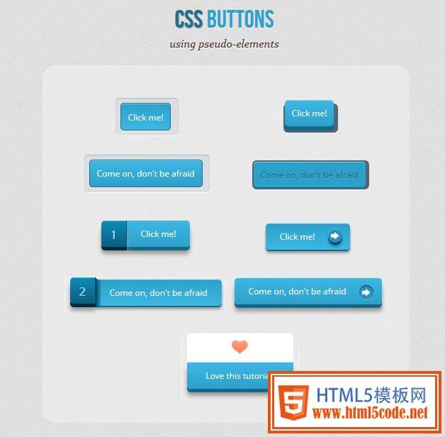 纯CSS3打造立体质感按钮-科e互联