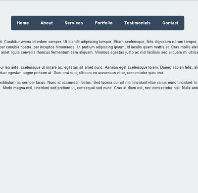 HTML5响应式英文导航素材下载