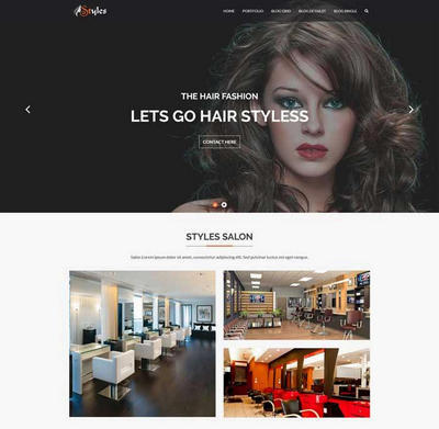 美容美发店网站模板