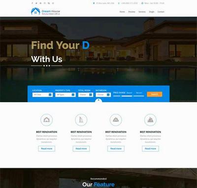 html5大气房产销售网站静态模板