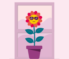 html5 svg可爱的花朵动画特效