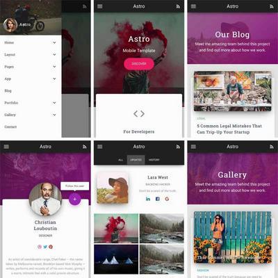 响应式手机图片博客类型网站模板
