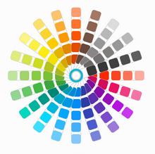 html5 svg交互式圆形色板颜色拾取器