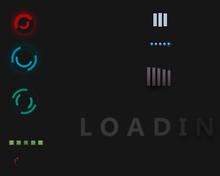 纯css3多款彩色的loading加载动画特效