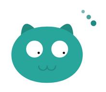 html5 canvas可爱猫头像加载动画特效