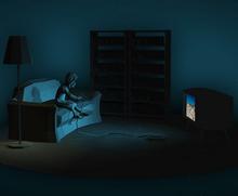 html5 canvas绘制3D房间模型动画特效