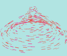 html5 canvas跟随鼠标螺旋动画特效