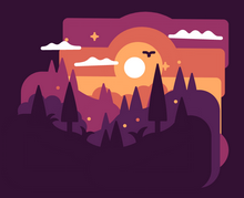 html5 canvas绘制3D森林场景拖动特效