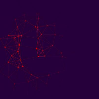 html5 canvas网状结构节点动画特效