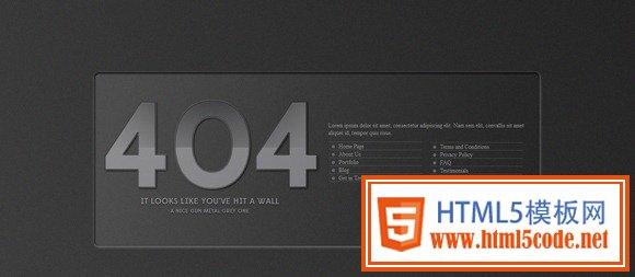 30个独特创意的404 错误页面设计模板 【强烈推荐】