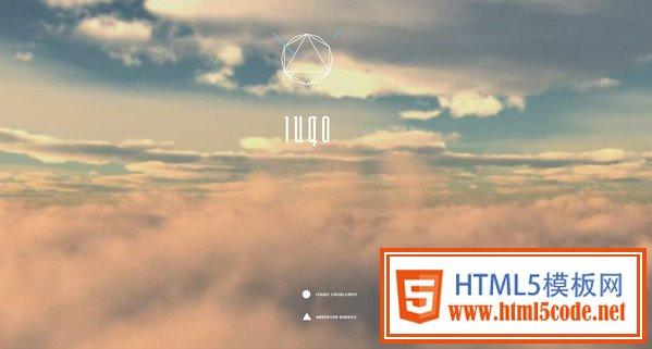 纯文本和背景图式欢迎页面_网页设计-html5模板素材