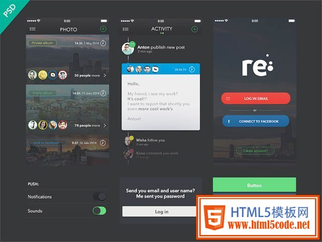 Free UI Kits: re-free-ui-kit